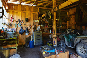 Old shed ready for demolition